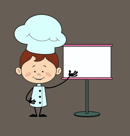 Kitchen Character Chef - Showing on White Board
