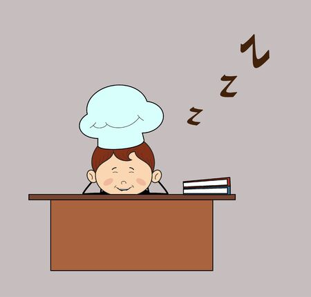 Kitchen Character Chef - Sleeping on Office Desk