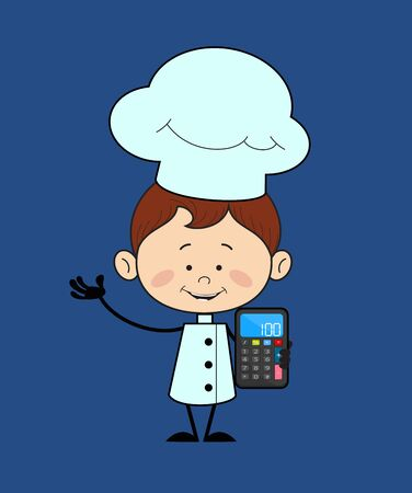 Kitchen Character Chef - Presenting a Calculator