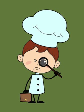 Kitchen Character Chef - Watching with Magnifier