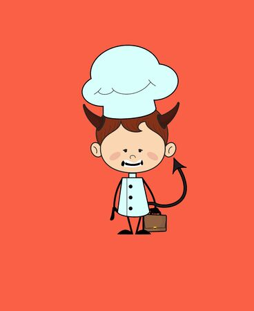 Kitchen Character Chef - Standing in Angry Mood
