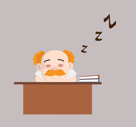 Medical Professional Doctor - Sleeping on Office Desk