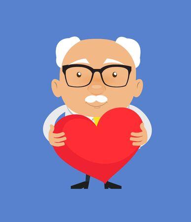 Old Boss Businessman - Standing with a Heart Standard-Bild - 133135861