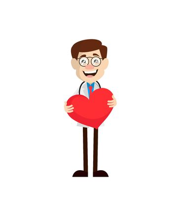 Physician Doctor - Standing with a Heart Standard-Bild - 133158832