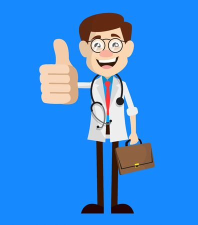 Physician Doctor - Showing a Thumb Up Vector