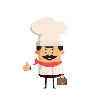 Professional Cute Chef - Showing a Thumb Up Vector