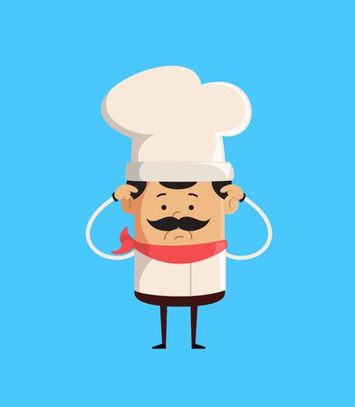 Professional Cute Chef - Worried Illustration