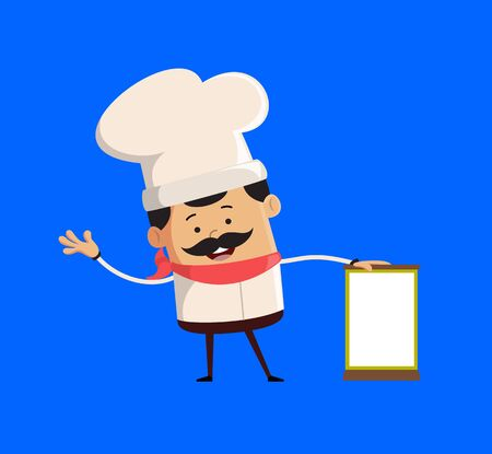 Professional Cute Chef - Standing with a Blank Board