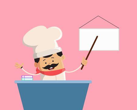Professional Cute Chef - Presenting on White Board