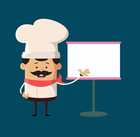 Professional Cute Chef - Showing on White Board