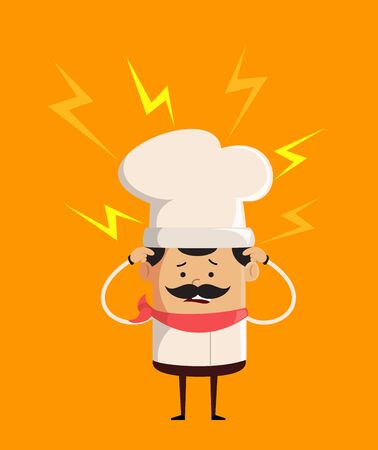 Professional Cute Chef - with Worried Face