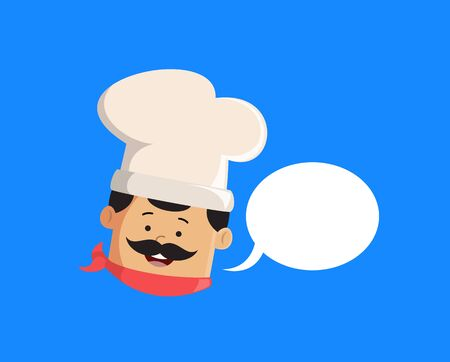 Professional Cute Chef - with Speech Bubble