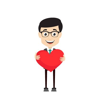 Professional Male - Standing with a Heart Standard-Bild - 133142522
