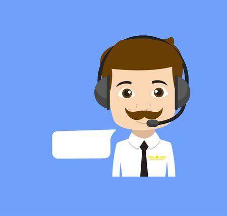 Professional Male - Providing a Customer Service Stock Illustratie
