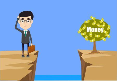 Homme professionnel - Penser comment atteindre près de l'usine d'argent