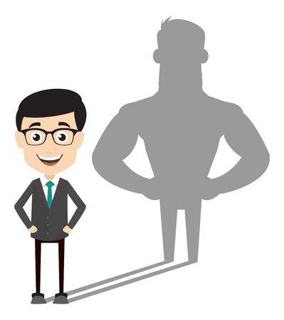 Professional Male - Standing in Positive Attitude Illustration