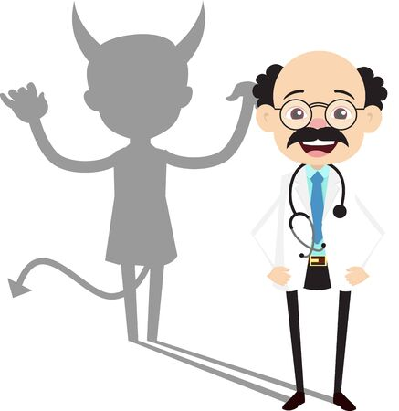 Psychiatrist - Devil person Standing with Fake Smile