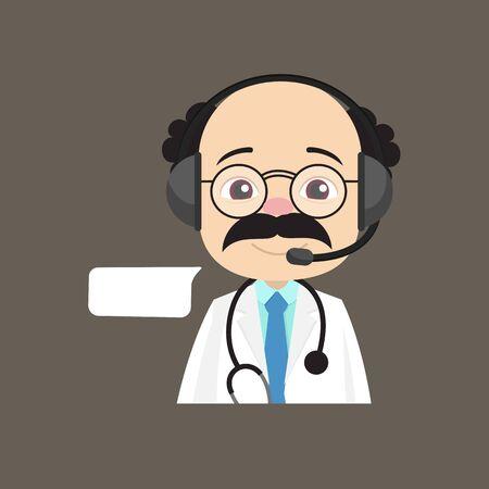 Psychiatrist - Providing a Customer Service Stock Illustratie