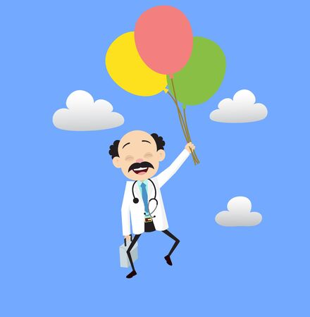Psychiatrist - Flying with Balloons