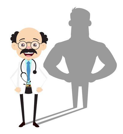 Psychiatrist - Standing in Positive Attitude