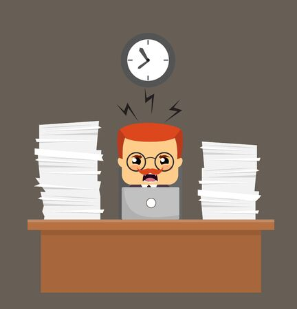 Salesman Boss Guy - Frustrated from Office Work