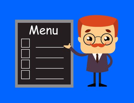 Salesman Boss Guy - Presenting Menu List