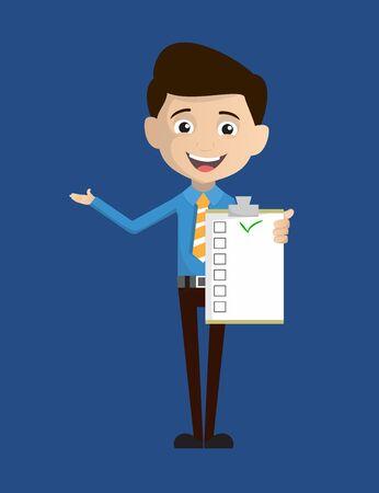 Salesman Employee - Showing a Checklist