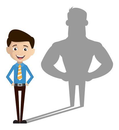 Salesman Employee - Standing in Positive Attitude