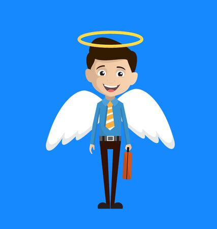 Salesman Employee - in Angel Costume Vector