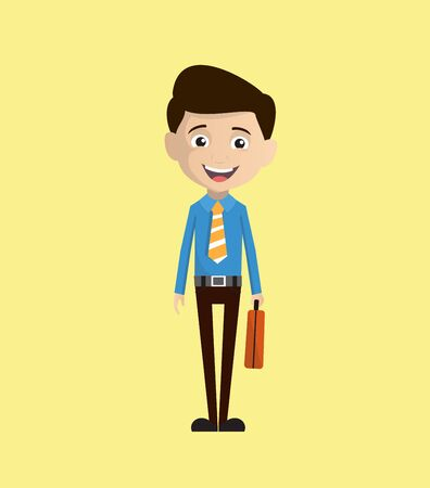 Salesman Employee - Holding a Suitcase and ready to go Illustration