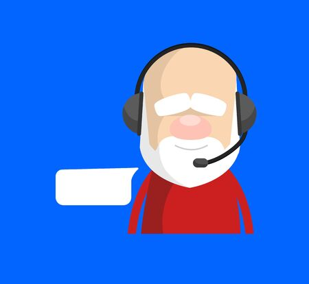 Simple Cartoon Santa - Providing a Customer Service