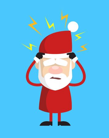 Simple Cartoon Santa - with Worried Face Ilustrace