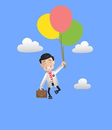 Surgeon - Flying with Balloons Illusztráció