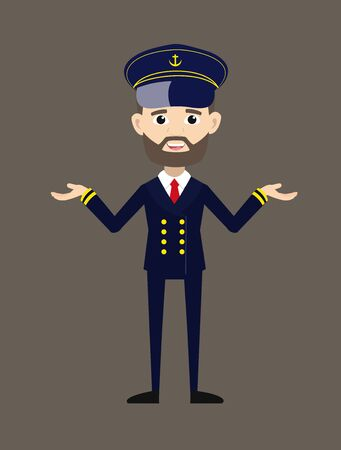 Ship Captain Pilot - Standing in Presenting Pose