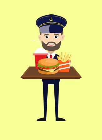 Ship Captain Pilot - Presenting Fast Foods