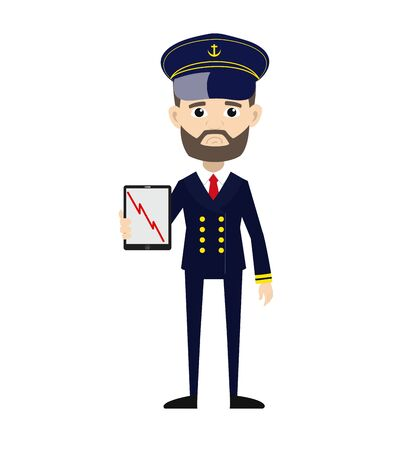 Ship Captain Pilot - Presenting Loss Graph on Tablet