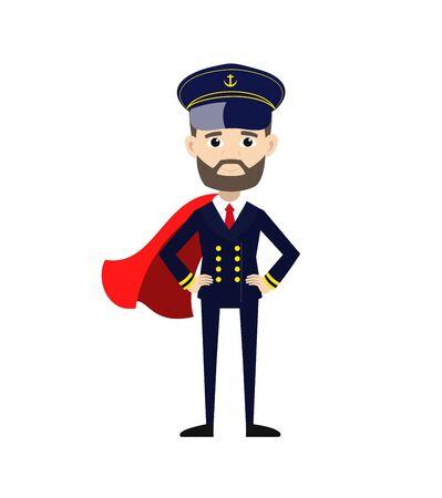 Ship Captain Pilot - In Super Hero Costume