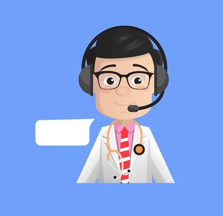 Surgeon - Providing a Customer Service Stock Illustratie