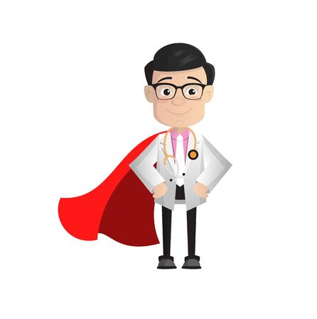 Surgeon - In Super Hero Costume 向量圖像