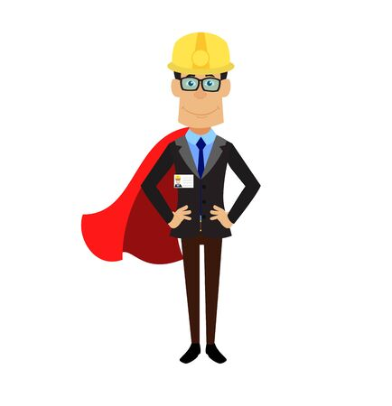 Technician Engineer Worker - In Super Hero Costume