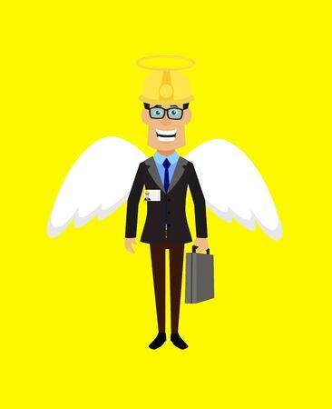 Technician Engineer Worker - in Angel Costume Vector 向量圖像