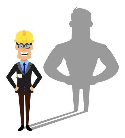 Technician Engineer Worker - Standing in Positive Attitude