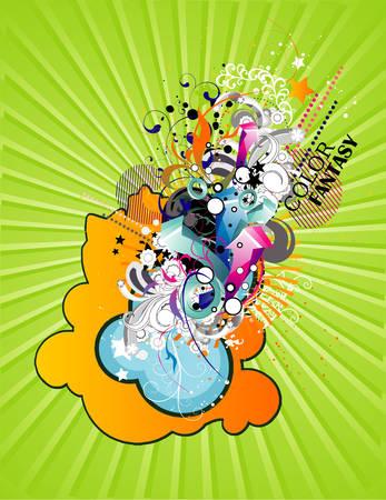 fantasy  illustration Stock Vector - 8361118