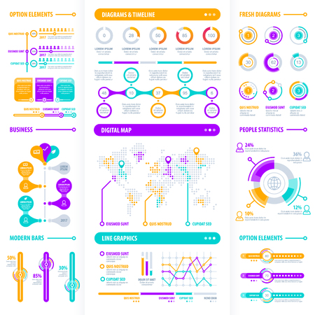 Set of modern infographics.