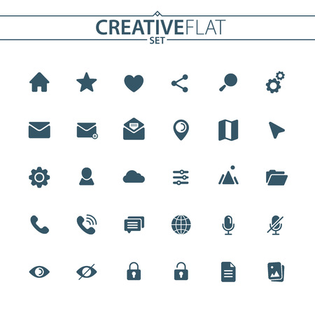 Set of web design icons.