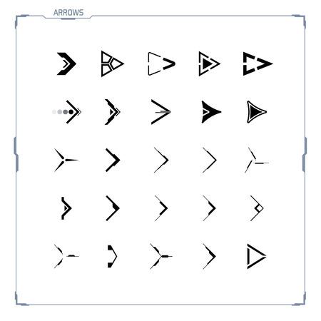 Futuristic and Sci-fi Design Arrow Icons Set 일러스트