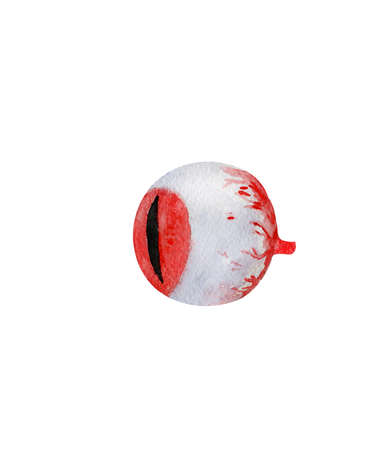 Hand drawn watercolor eye, isolated, perfect for Halloween:) Banco de Imagens
