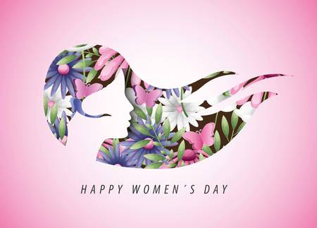 Happy Women Day holiday graphic digital image Çizim