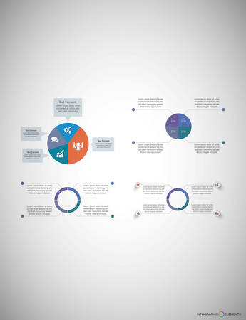 Business Infographic template is suitable for web design social media simplifying a complicated concept express your business information workflow layout and much more. 向量圖像