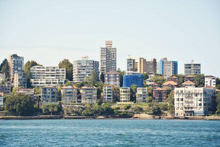 Luxury exotic houses on the coastline of Sydney, Australia.